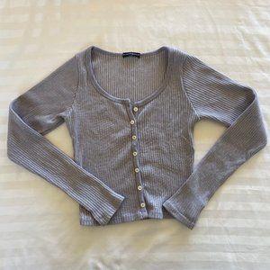 Brandy Melville Purple knit zelly top